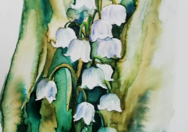postcards from the garden 2020, lily of the valley